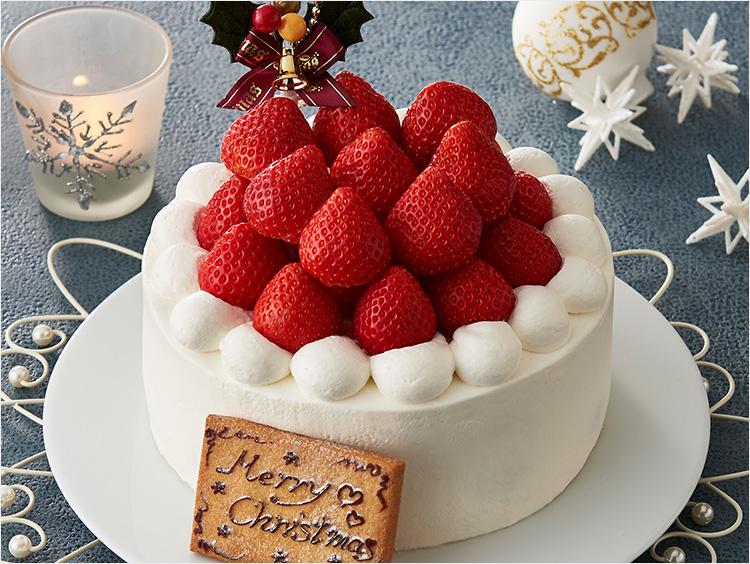 <いちびこ>ミガキイチゴをふんだんに使ったクリスマスケーキ