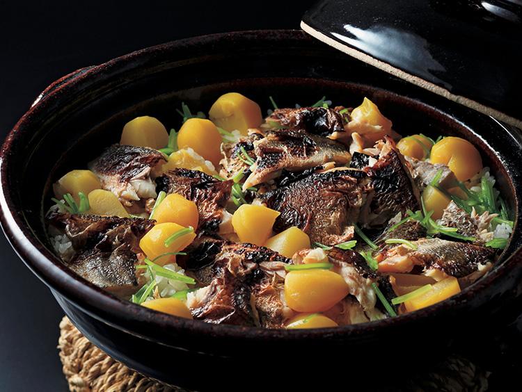 <紫野和久傳>かますと栗の炊込みご飯