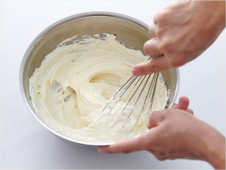 なめらかになったクリームチーズ