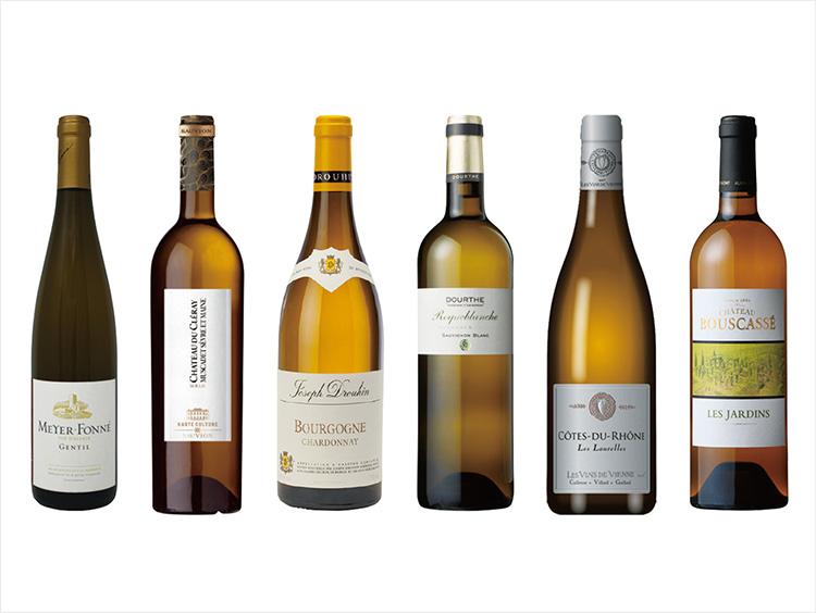 フランス産地別飲み比べ白ワイン6本セット