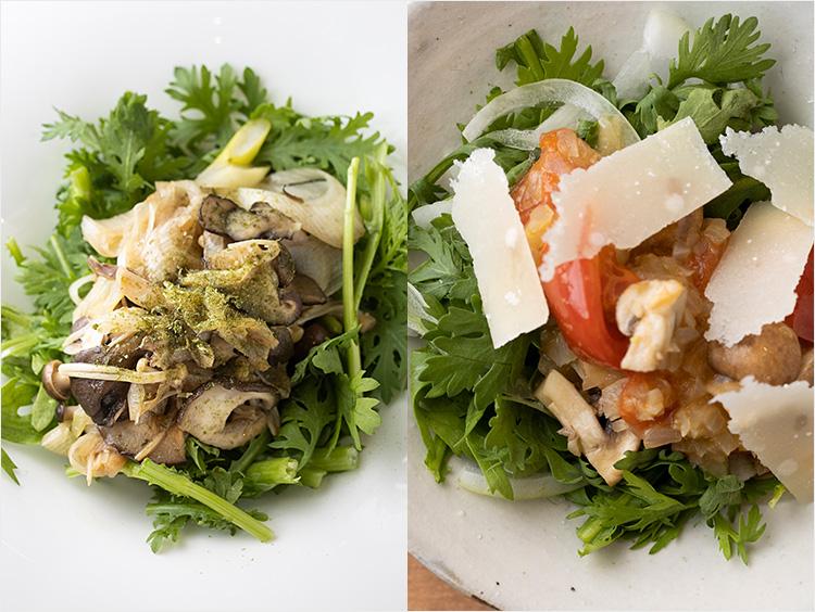 2種の春菊サラダ