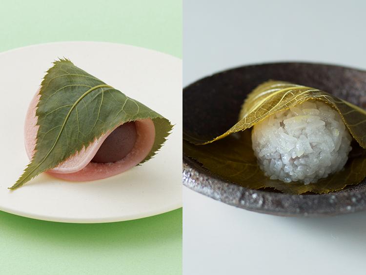関東と関西の桜餅イメージ