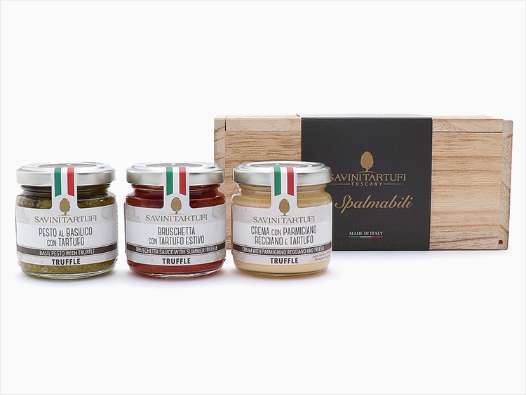 <サヴィーニ・タルトゥーフィ>3種のトリュフソース木箱セット