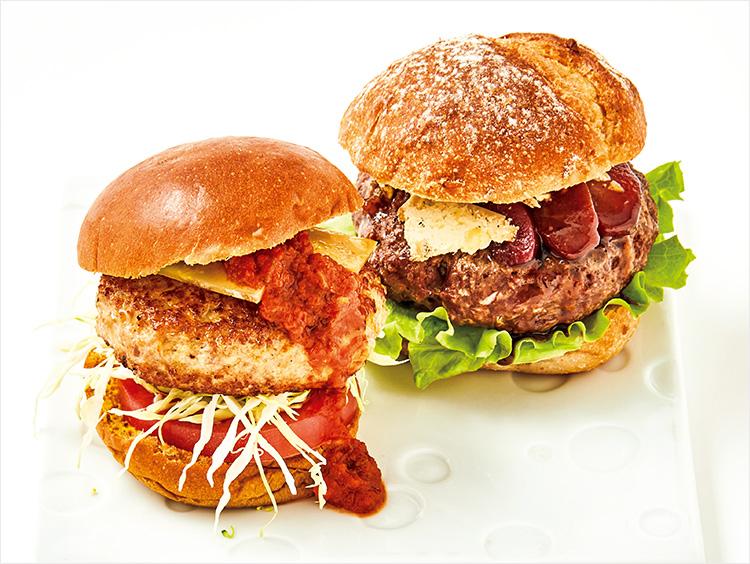 <小島商店>×<フロマジュリーHISADA>チーズハンバーガーイメージ