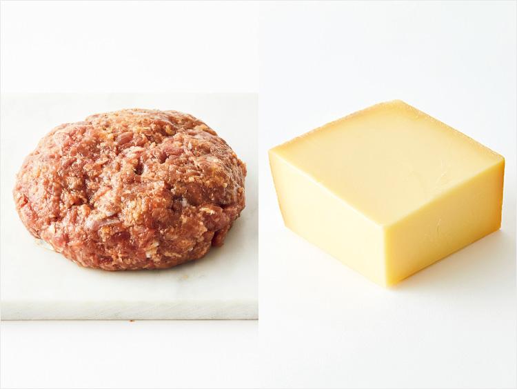左:<小島商店>和歌山県産 鹿肉ハンバーグ、右:<フロマジュリーHISADA>グリュイエール マイルド