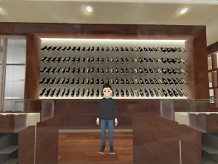 仮想伊勢丹新宿店内の世界を旅するワイン展 バーチャル空間ストアのイメージ