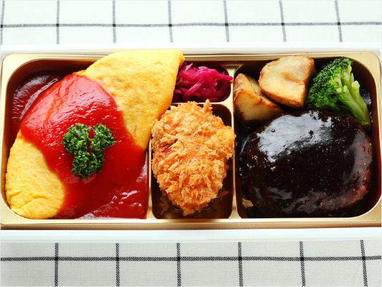 <発酵kitchenリッチクリームコロッケ東京>自家製デミグラスハンバーグ&リッチクリームコロッケオムライス御膳