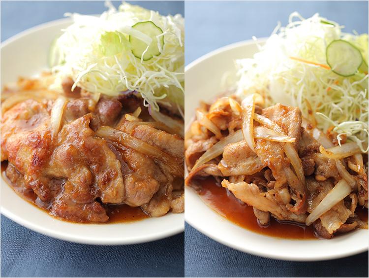 豚肉の生姜(しょうが)焼き2つのレシピ。粉をふるかは、肉の厚みで決めるのが正解!