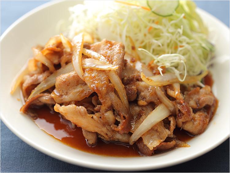 薄切り肉の生姜焼きのイメージ