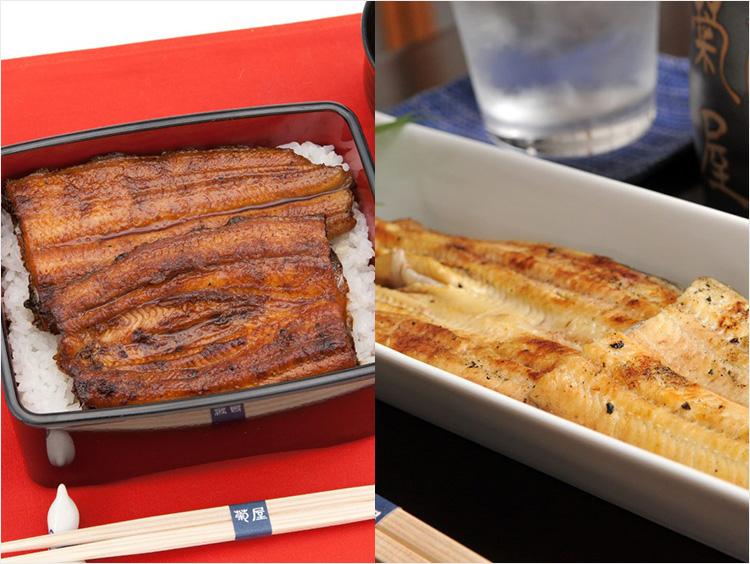 <成田 菊屋>国産鰻蒲焼、白焼セット
