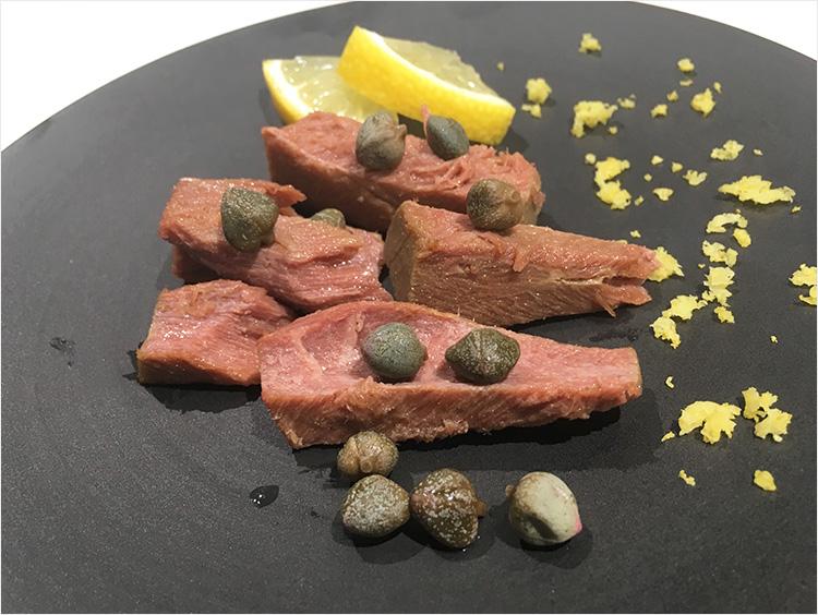 地中海産クロマグロの前菜