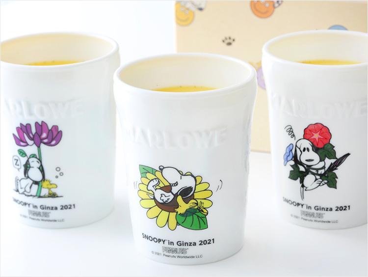 <葉山 マーロウ>2021年銀座三越オリジナルデザイン 陶器プリン入り スヌーピーBOX