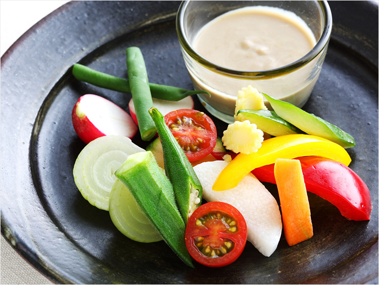 <サンミ高松>夏野菜のバーニャカウダ