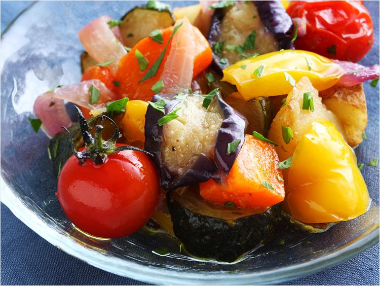 <ガリバルディ>夏野菜のカラフルマリネ ホワイトバルサミコ酢仕立て