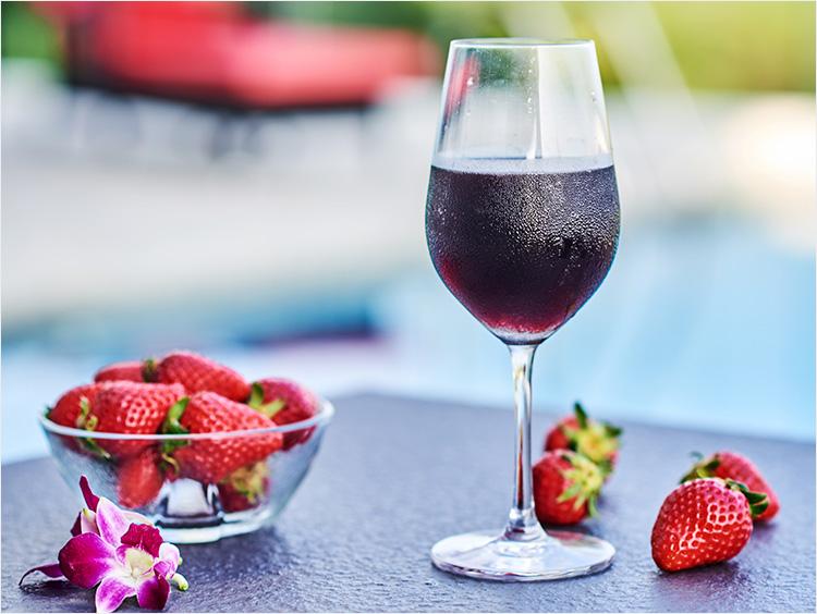 冷やし赤ワインのイメージ
