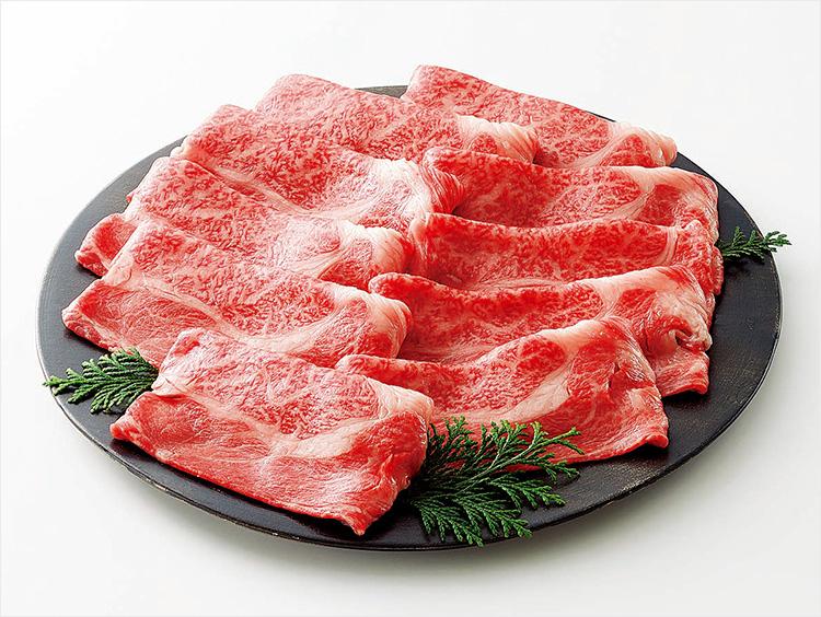 <片葉三>雪降り和牛尾花沢肩ロース すき焼き・焼肉用(自宅用)