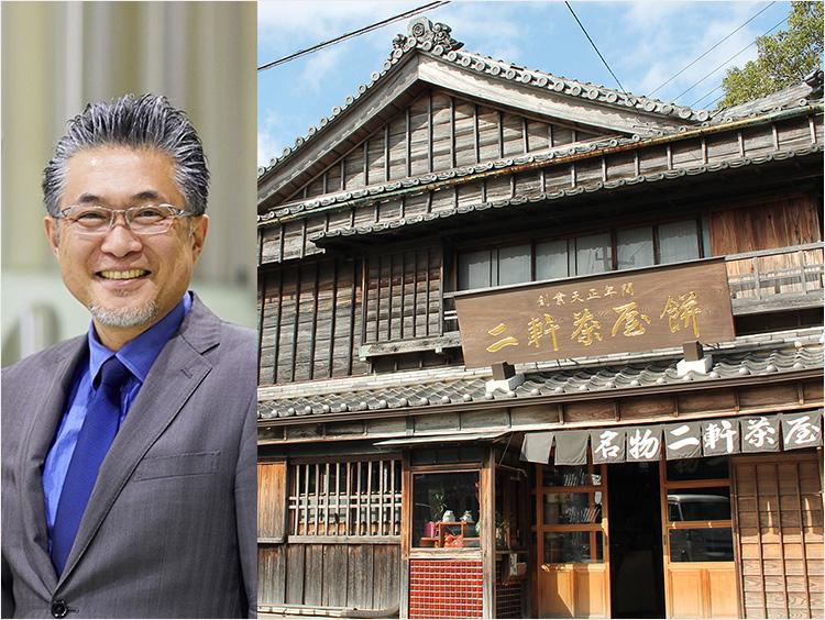 (左)<伊勢角屋麦酒>鈴木成宗社長(右)本社のイメージ