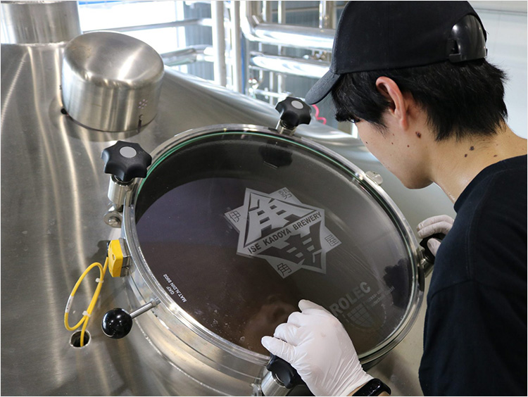 ビールの醸造風景