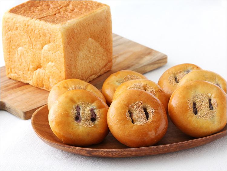 <花園万頭>ぬれ甘なつと生食パン・あんぱんセット