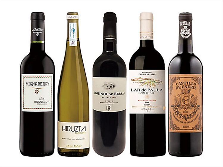 フレンチバスク入り!バスク地方赤ワイン、チャコリ5本セット