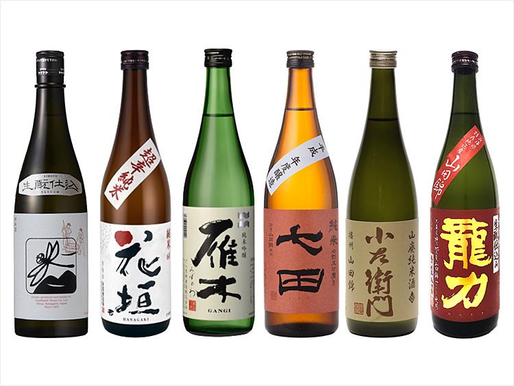 秋の夜長に楽しむ旨口日本酒6本セット