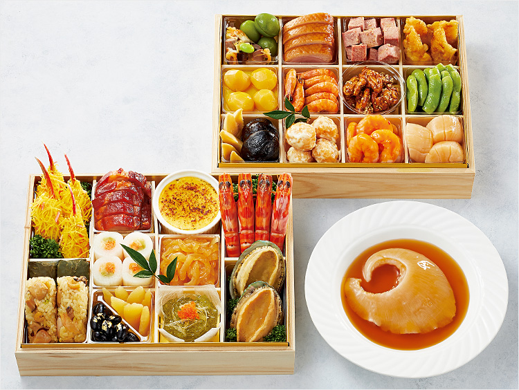 <上海料理 状元樓>中華おせち二段重(フカヒレ姿煮付)
